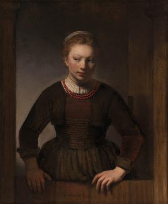 Rembrandt Harmenszoon van Rijn. The girl at the open door