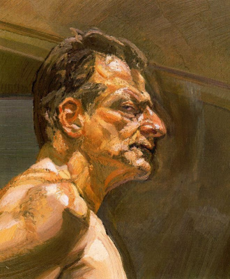 Lucien Freud. Male profile