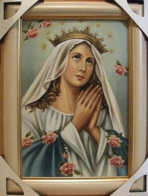 Ядвига Сенько. Дева Мария Королева - икона католическая (холст,масло)