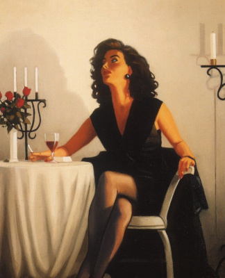 Jack Vettriano. A table for one