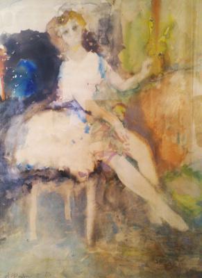 Arthur Vladimirovich Fonvizin. Portrait of a ballerina M. T. Semenova