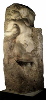 Michelangelo Buonarroti. The awakening slave