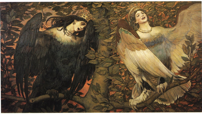 Victor Mikhailovich Vasnetsov. Sirin and Alkonost. A song of joy and sorrow