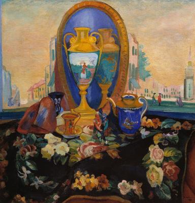 Павел Варфоломеевич Кузнецов. Натюрморт с зеркалом