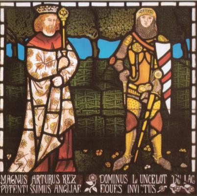Уильям Моррис. Король Артур и сэр Ланселот