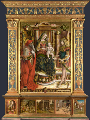 Carlo Crivelli. Madonna with a swallow