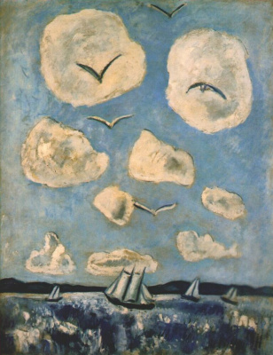Marsden Hartley. Flying birds