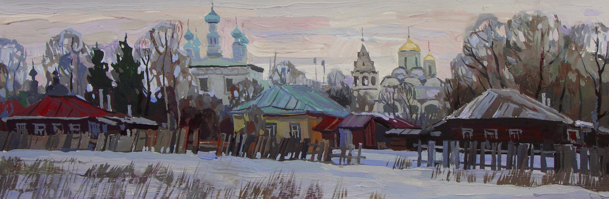 Oleg Borisovich Zakharov. Early morning in Suzdal.