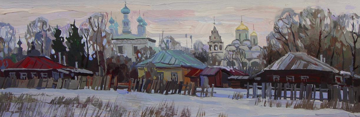 Oleg Borisovich Zakharov. Early morning in Suzdal.