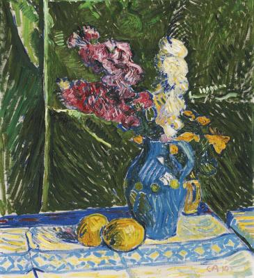Куно Амье. Натюрморт с цветами и лимонами