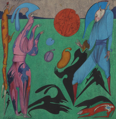 Michael Shemyakin. Surrealistic composition. 1977