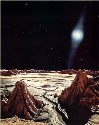Чесли Бонестелл. Поверхность Меркурия