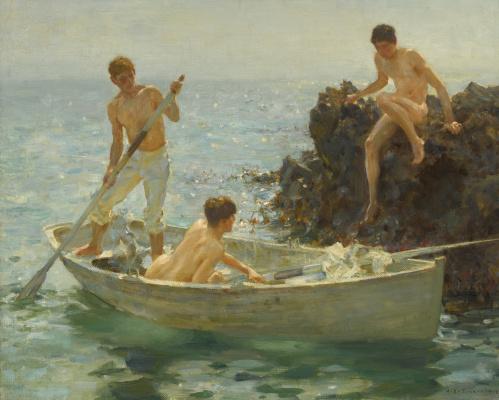 Tuke Henry Scott. 1858-1929. The Bathing Cove, 1912