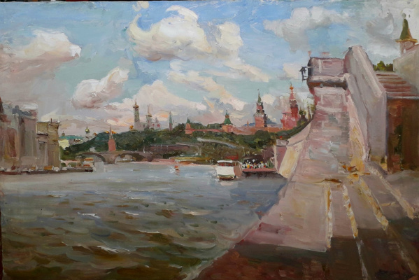 Sergey Anatolyevich Kostylev (Uralsky). On the Moscow River