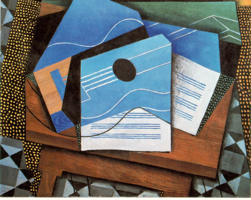 Juan Gris. The guitar on the table