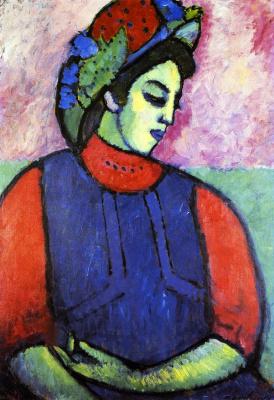 Alexej von Jawlensky. Girl in a blue apron