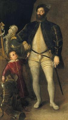 Тициан Вечеллио. Двойной портрет Гвидобальдо II делла Ровере, герцога Урбинского, и его сына, Франческо Мария II