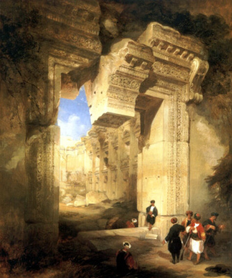 David Roberts. The Gateway Of The Great Temple