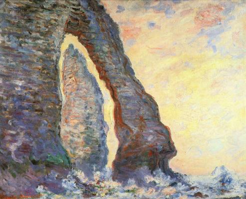 Claude Monet. The rock Needle, the view through the Porte d amont