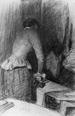 Виллем де Зварт. Женщина гладит