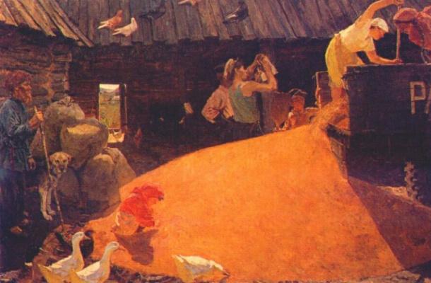 Аркадий Александрович Пластов. Август