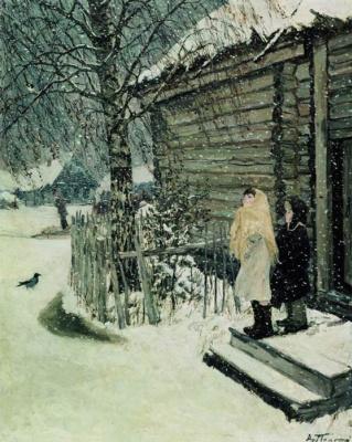 Arkady Alexandrovich Plastov. The first snow