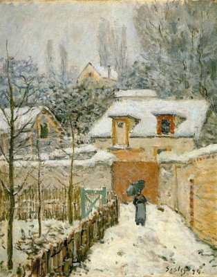 Alfred Sisley. Snow in Louveciennes