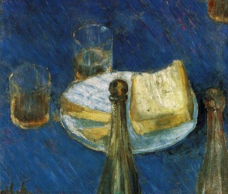 Mikhail Larionov. Beer still life