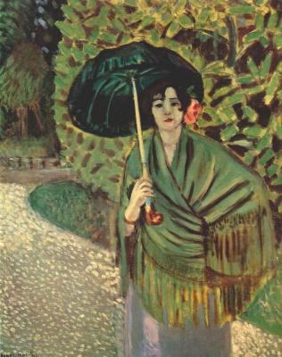 Анри Матисс. Женщина с зонтиком