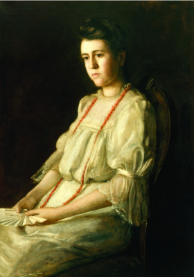 Thomas Eakins. Coral necklace
