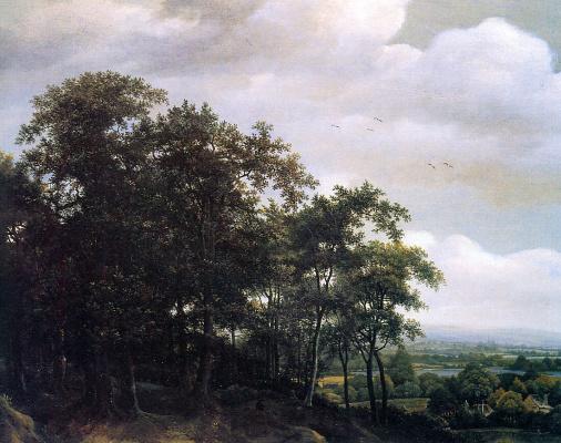 Ян де Лагур. Лесной пейзаж