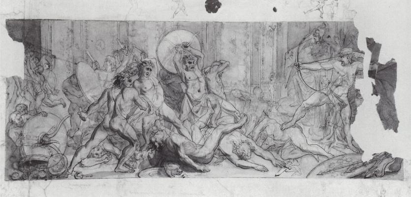 Vasily Vasilyevich Vereshchagin. Beating the suitors of Penelope returning Ulysses