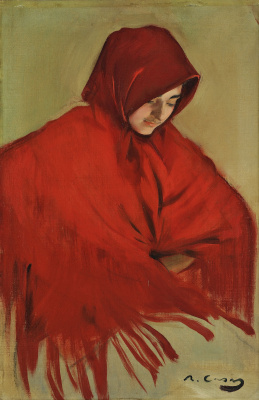 Ramon Casas i Carbó. Gypsy with a red shawl