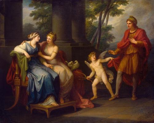 Ангелика Кауфман. Венера уговаривает Елену любить Париса