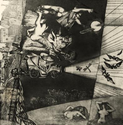 Валентин Васильевич Демьяненко. На бал к сатане. Иллюстрация к роману. М. Булгакова.