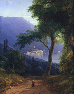 Ivan Aivazovsky. The view from the Park of Livadia in Yalta