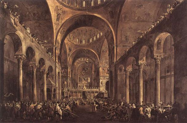 Francesco Guardi. St. Mark's Cathedral