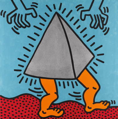 Whale Haring. Untitled (Dancing Pyramid)
