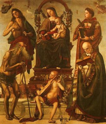 Luke Signorelli. The virgin on the throne
