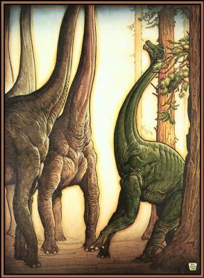 Уильям Стаут. Высокие динозавры