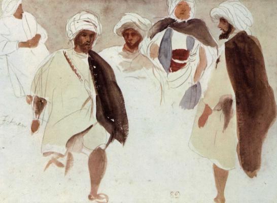 Eugene Delacroix. The Arabs in Tetuan