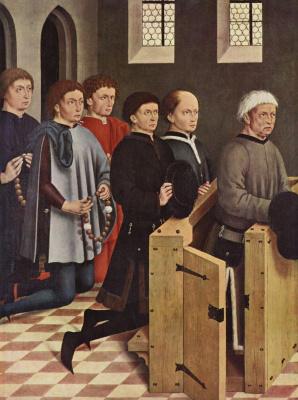 Friedrich Heerlin. Portrait of a customer, Jacob Fuseta sons. The altar of St. George in Nördlingen, fragment