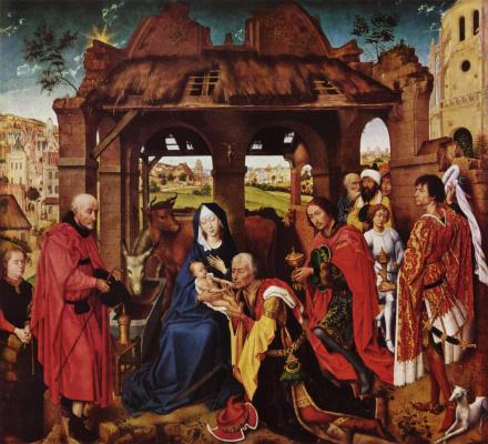 Rogier van der Weyden. The altar of St. Colomba. Fragment