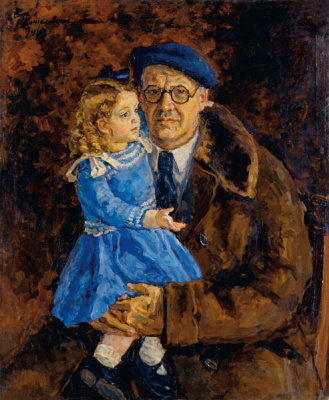 Petr Petrovich Konchalovsky. Self-portrait with his granddaughter
