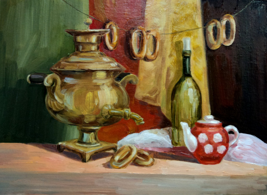 Irina Belyaeva. Still life with samovar