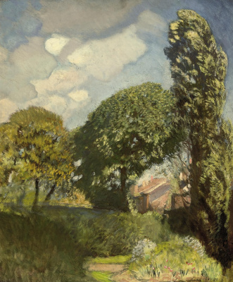 George Clausen. On the outskirts of the farm