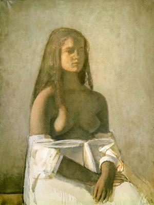 Balthus (Balthasar Klossovsky de Rola). Girl in white shirt