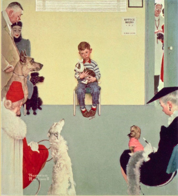 Norman Rockwell. At the vet