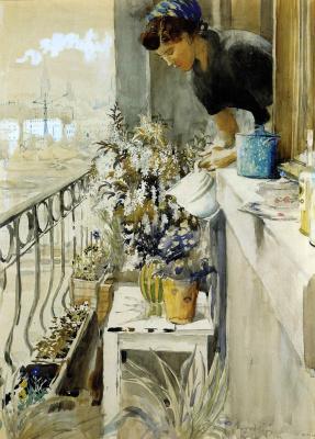 Yuri Ivanovich Pimenov. Balcony