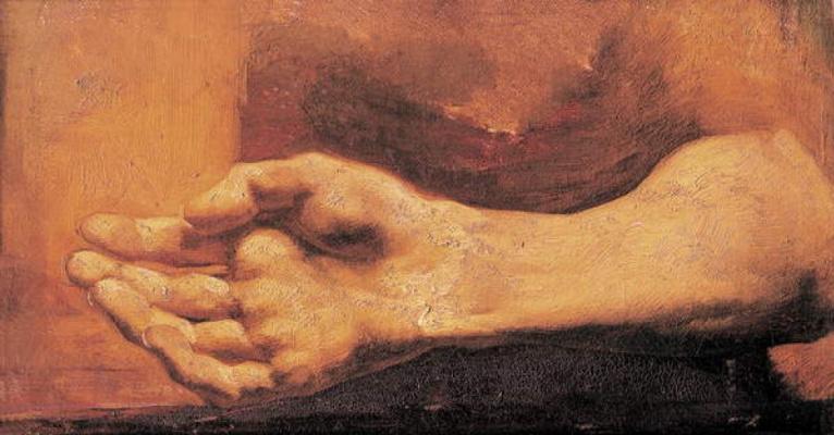 Théodore Géricault. Male hand. Etude